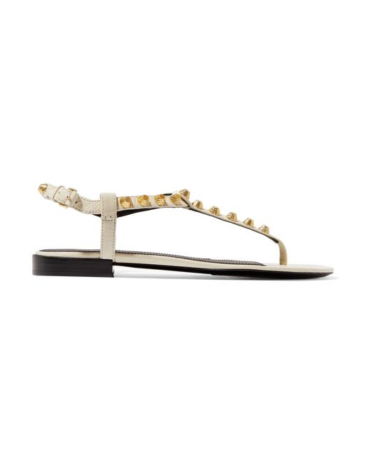 Balenciaga | Metallic Giant Studded Leather Sandals | Lyst