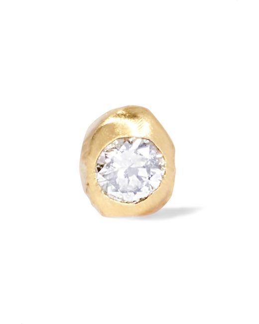 Wwake - Metallic Nugget Gold Diamond Earring - Lyst