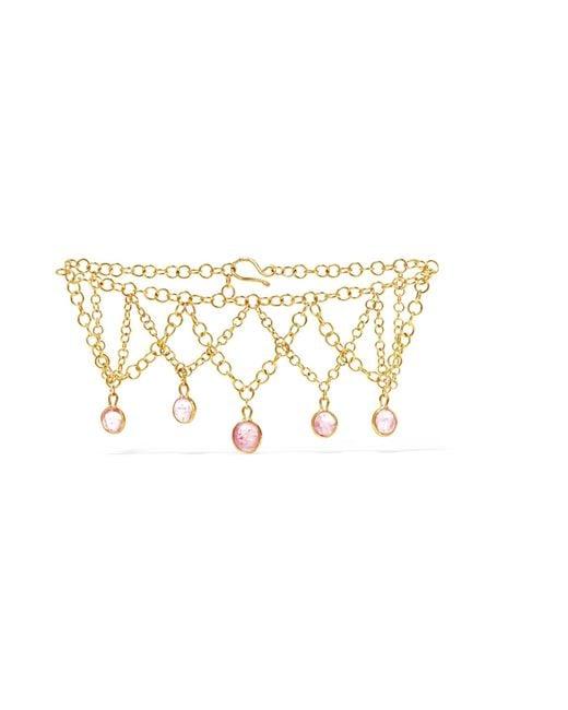 Pippa Small   Metallic Rain Drop 18-karat Gold Tourmaline Bracelet   Lyst