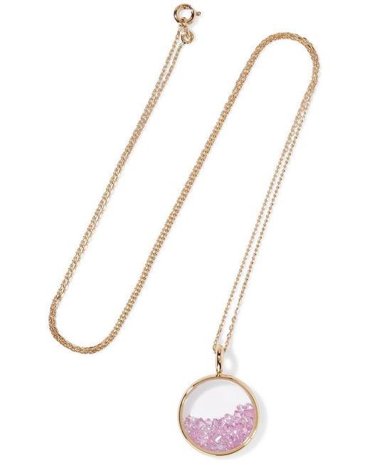Aurelie Bidermann | Metallic Baby Chivor 18-karat Gold Sapphire Necklace | Lyst