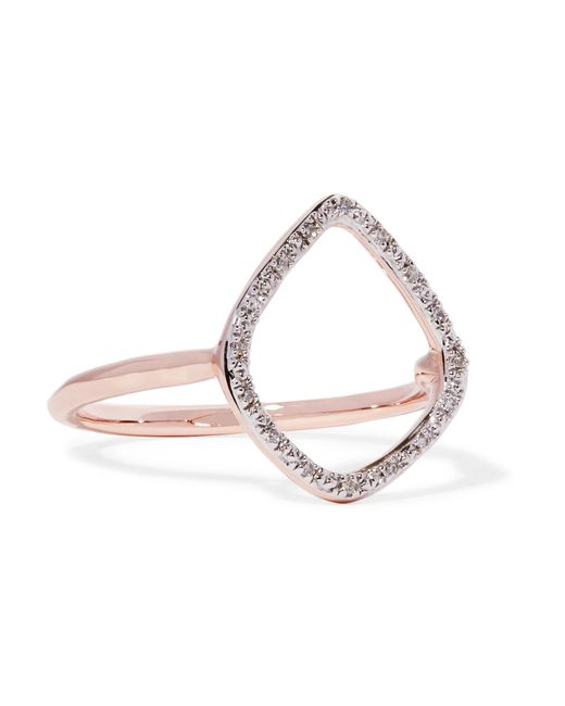 Monica Vinader | Multicolor Riva Rose Gold Vermeil Diamond Ring | Lyst