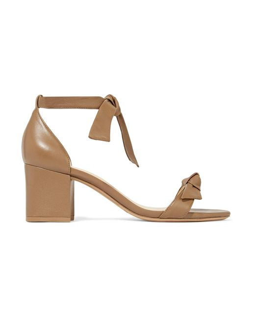 Alexandre Birman - Brown Clarita Bow-embellished Leather Sandals - Lyst