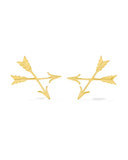 Marie-hélène De Taillac   Metallic 22-karat Gold Earrings   Lyst