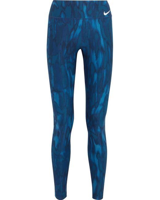 Nike | Blue Power Legendary Dri-fit Leggings | Lyst