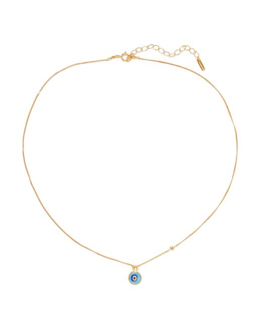 Chan Luu - Metallic Evil Eye Gold-plated, Diamond And Turquoise Necklace - Lyst