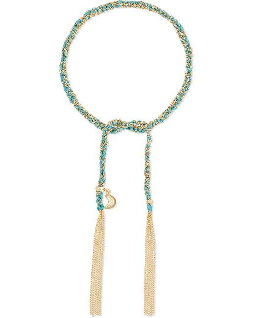 Carolina Bucci | Metallic Wisdom Lucky 18-karat Gold And Silk Bracelet | Lyst
