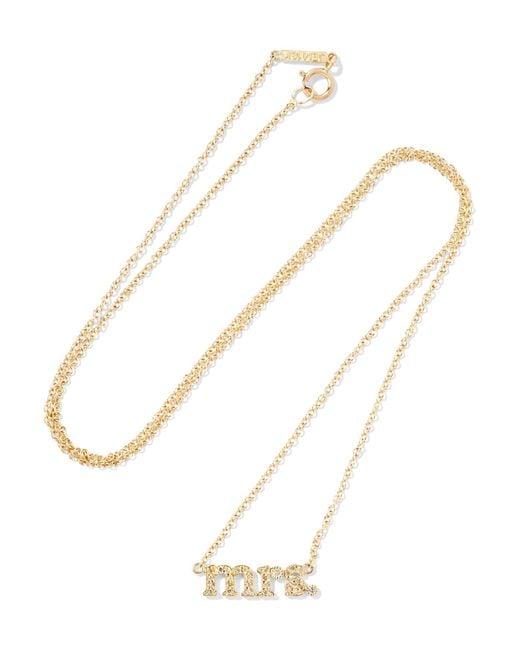 Jennifer Meyer | Metallic Mrs 18-karat Gold Diamond Necklace | Lyst