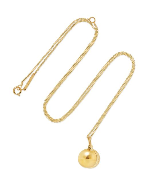 Grace Lee - Metallic Petite O Locket 14-karat Gold Necklace - Lyst