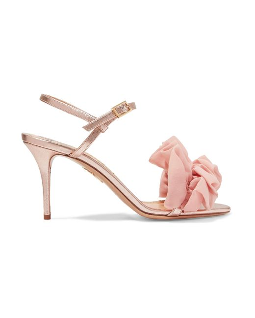 Charlotte Olympia - Pink Ruffle Trim Sandals - Lyst