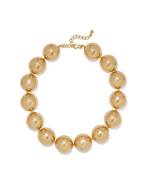 Kenneth Jay Lane   Metallic Gold-plated Necklace   Lyst