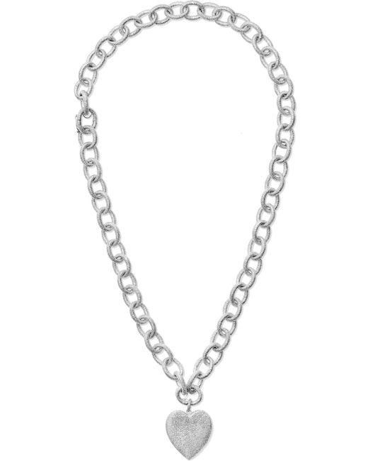 Carolina Bucci - Metallic Florentine Convertible 18-karat White Gold Necklace - Lyst