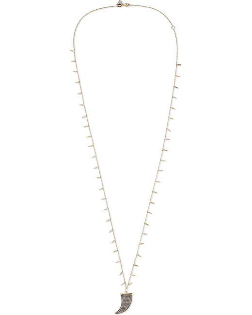 Sydney Evan - Metallic Large Horn 14-karat Gold Diamond Necklace - Lyst