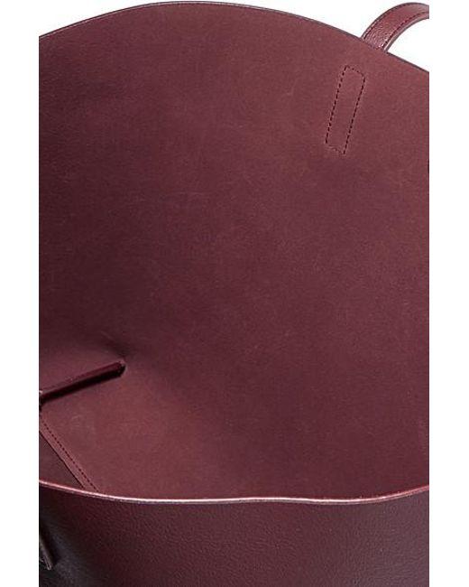 13ec447e4d7 ... Saint Laurent - Purple Shopper Large Textured-leather Tote - Lyst ...