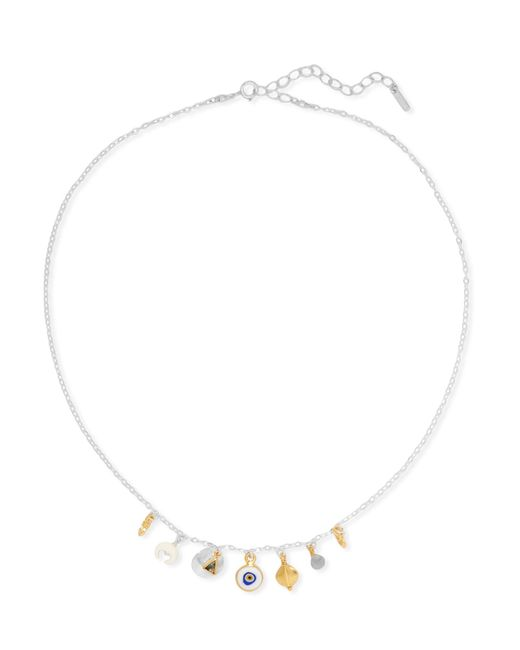 Chan Luu - Metallic Silver, Gold-plated, Labradorite And Silverite Necklace - Lyst