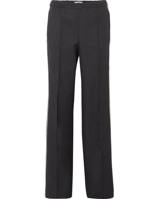 Prada - Black Striped Gabardine Track Pants - Lyst