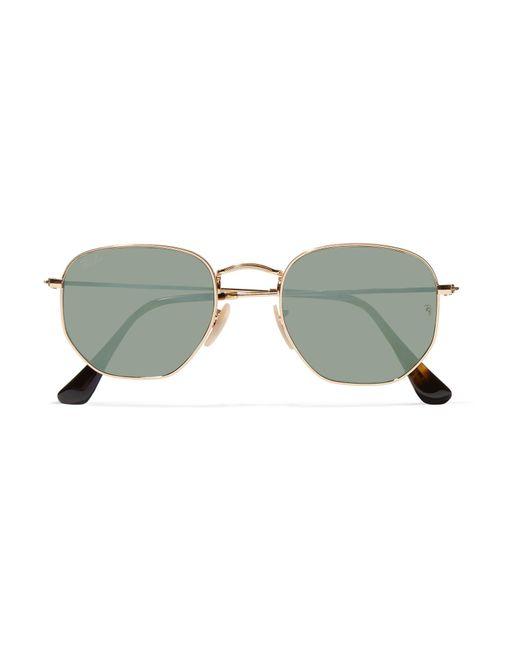 Ray-Ban - Metallic Square-frame Gold-tone Mirrored Sunglasses - Lyst