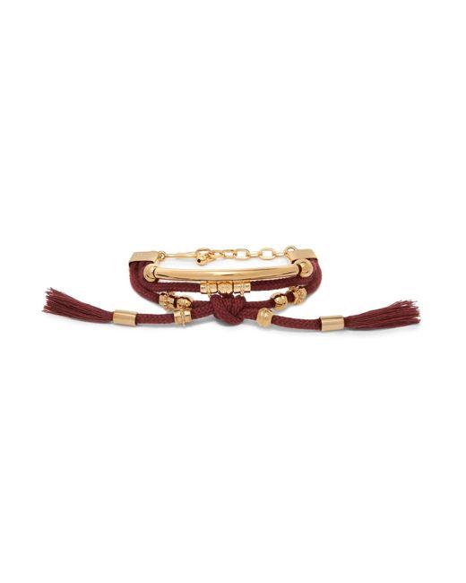 Chloé | Multicolor Otis Gold-tone Cord Bracelet | Lyst