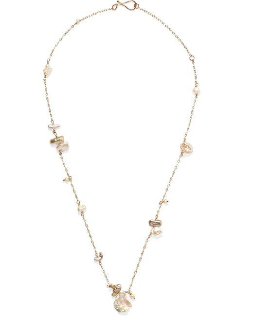 Melissa Joy Manning - Metallic 14-karat Gold Pearl Necklace - Lyst