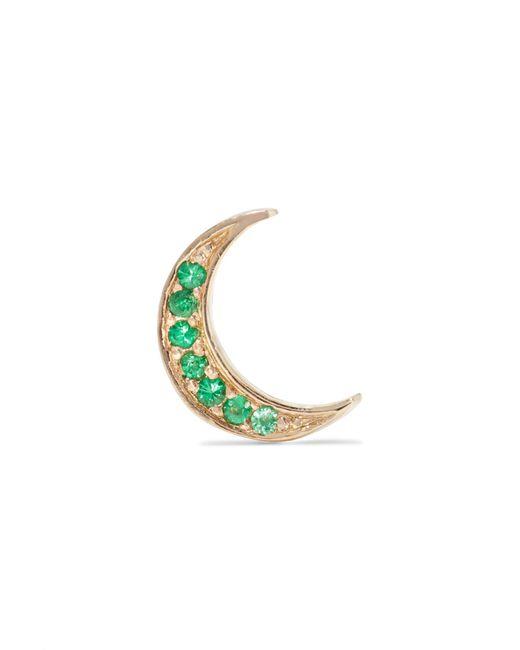 Andrea Fohrman - Metallic Mini Crescent 14-karat Gold Emerald Earring - Lyst