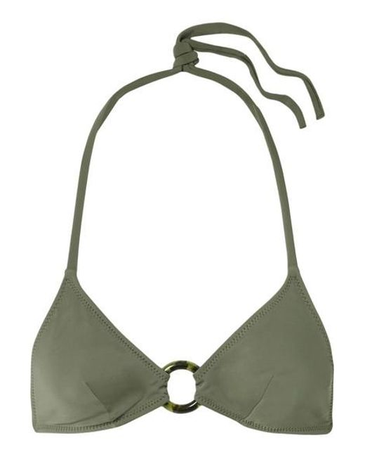 de255e7587b89 Solid & Striped - Green Sadie Embellished Triangle Bikini Top - Lyst ...