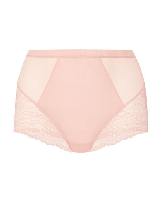 Spanx - Multicolor Spotlight Stretch-tulle And Lace Briefs - Lyst