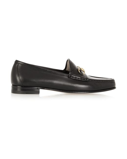 Gucci - Black Horsebit-detailed Leather Loafers - Lyst