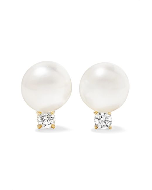 Jemma Wynne - Metallic 18-karat Gold, Pearl And Diamond Earrings - Lyst