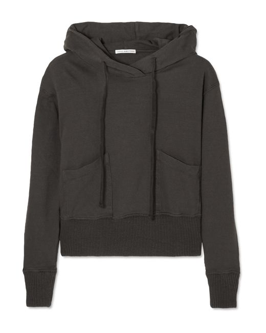 James Perse - Gray Cotton-jersey Hooded Top - Lyst