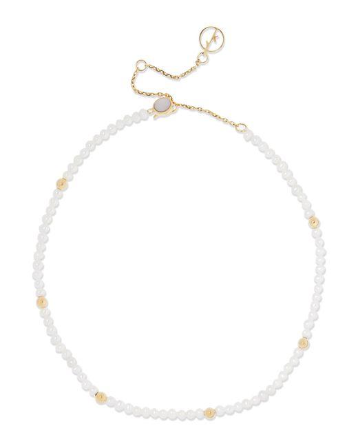 Anissa Kermiche | Metallic 14-karat Gold Pearl Anklet | Lyst