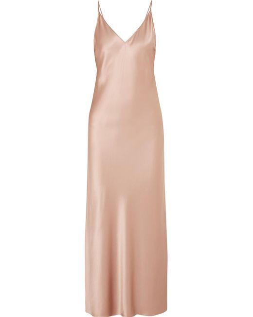 Joseph - Natural Clea Silk-satin Maxi Dress - Lyst