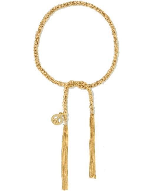 Carolina Bucci - Metallic Peace Lucky 18-karat Gold And Silk Bracelet Gold One Size - Lyst