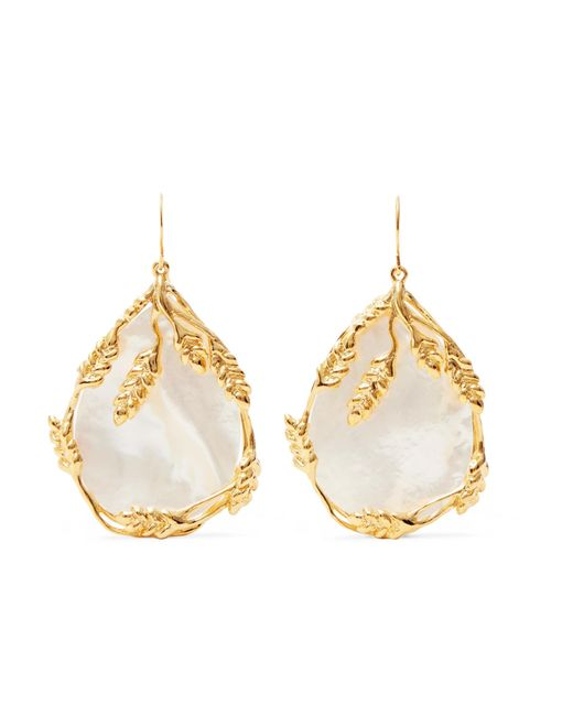 Aurelie Bidermann - Metallic Francoise Gold-plated Pearl Earrings - Lyst