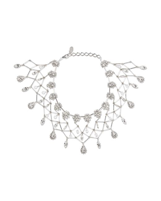 Erickson Beamon | Metallic Paper Cranes Silver-tone Crystal Necklace | Lyst