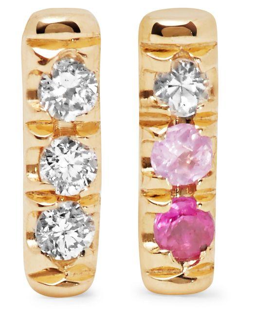 Jennie Kwon | Metallic 14-karat Gold, Diamond And Sapphire Earrings | Lyst
