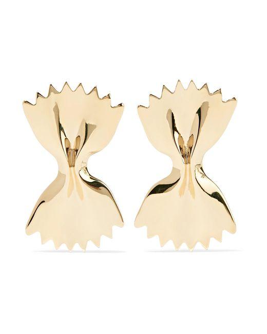 Alison Lou - Metallic Large Bowtie 14-karat Gold Earrings - Lyst