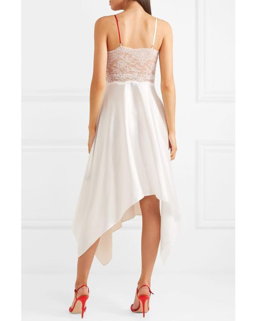 Adelia Lace, Plissé-crepe And Silk-satin Midi Dress - Neutral Preen