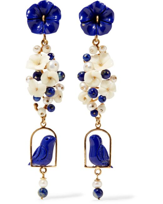 Of Rare Origin - Blue Nesters Gold Vermeil Multi-stone Earrings - Lyst