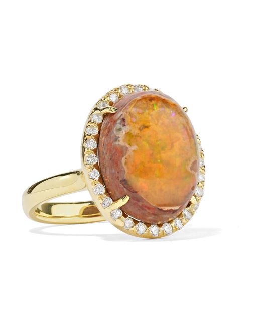 Kimberly Mcdonald - Metallic 18-karat Gold, Opal And Diamond Ring - Lyst