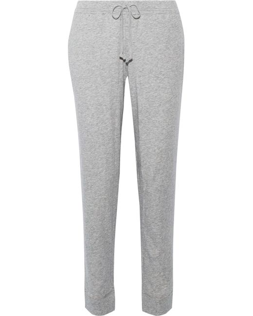 Skin | Gray Pima Cotton-jersey Track Pants | Lyst