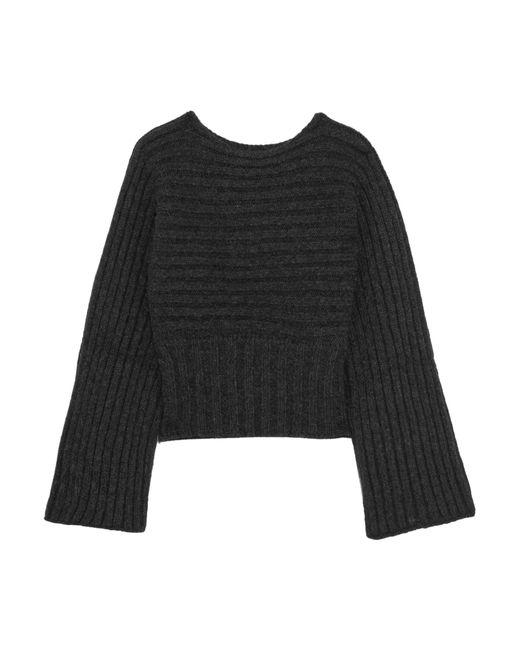 Rosetta Getty - Gray Ribbed Alpaca-blend Sweater - Lyst