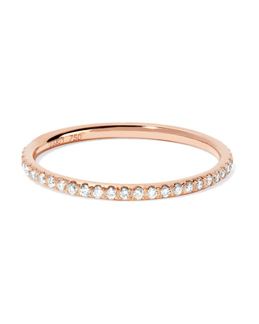 Ileana Makri - Metallic Thread 18-karat Rose Gold Diamond Eternity Ring Rose Gold 52 - Lyst
