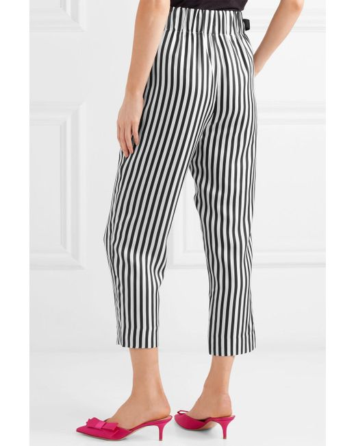 Okinawa Striped Wide-leg Silk-twill Wrap Pants - Black J.crew JNwWp