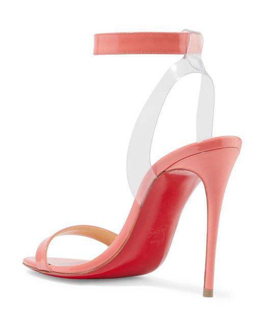 bb377461b825 ... Christian Louboutin - Multicolor Jonatina 100 Pvc-trimmed Patent-leather  Sandals - Lyst ...