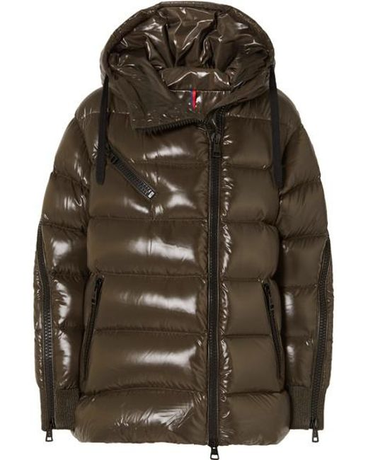 Moncler - Green Liriope Quilted Glossed-shell Down Jacket - Lyst