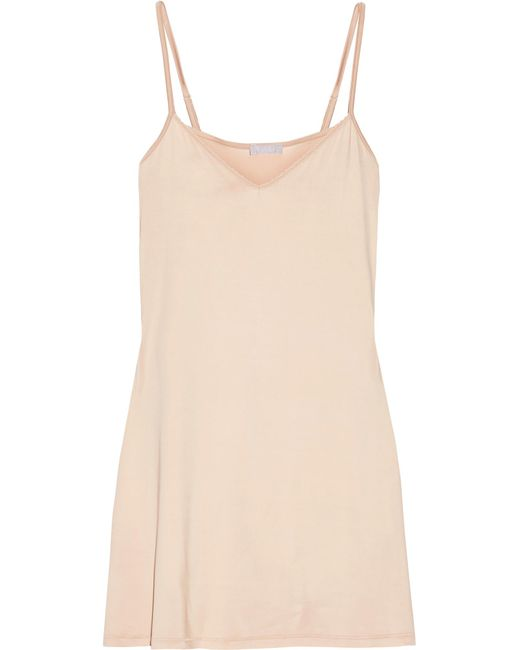 Hanro | Natural Deluxe Stretch-satin Slip | Lyst