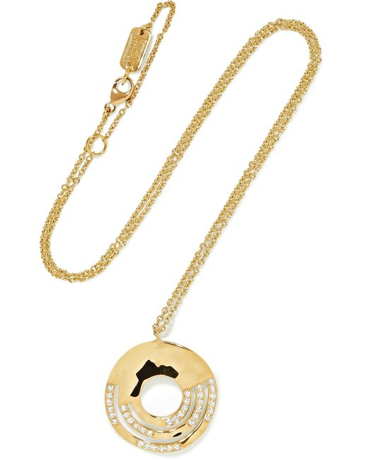 Ippolita | Metallic Senso 18-karat Gold Diamond Necklace | Lyst
