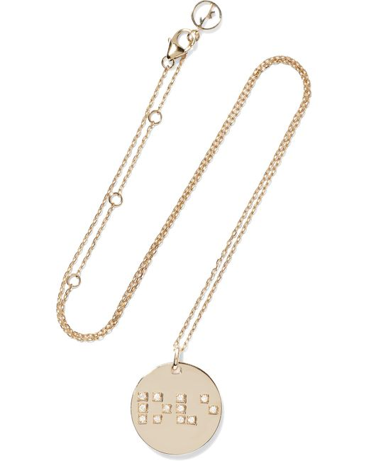 Anissa Kermiche - Metallic Love Is Blind 9-karat Gold Diamond Necklace - Lyst