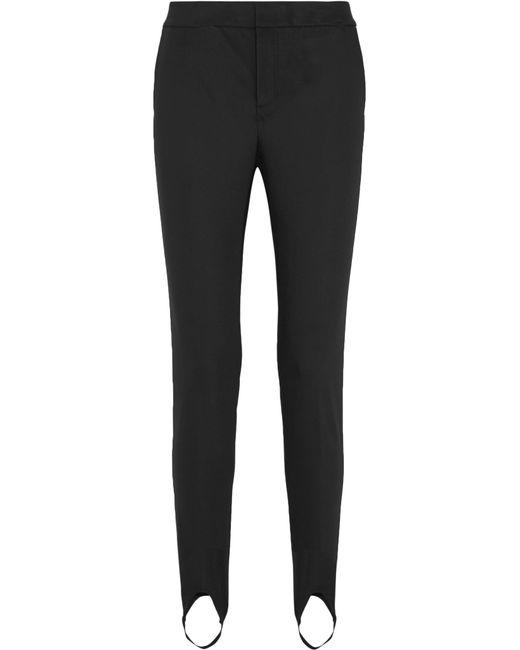 Helmut Lang | Black Stretch-jersey Slim-leg Stirrup Pants | Lyst