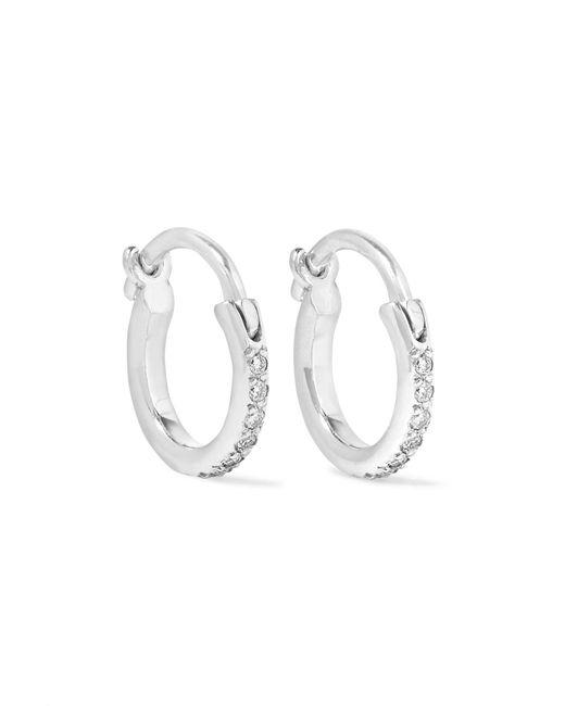 Ileana Makri - Metallic 18-karat White Gold Diamond Hoop Earrings White Gold One Size - Lyst