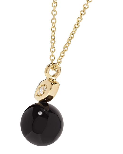 Ippolita Nova 18-karat Gold, Onyx And Diamond Necklace